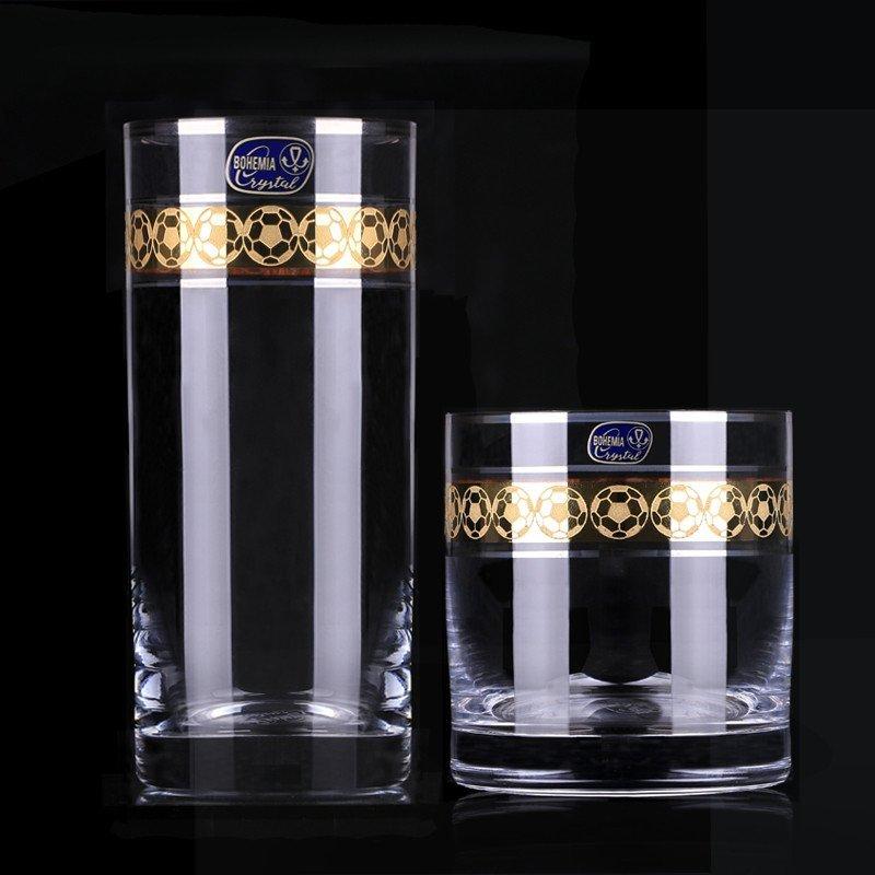 crystalex捷克进口无铅水晶玻璃杯创意刻花饮料果汁杯