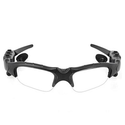 彬格 智能蓝牙眼镜 蓝牙耳机偏光太阳镜眼镜男女日夜两用户外运动耳机 立体声墨镜听歌接打电话 黑色框配透明镜片