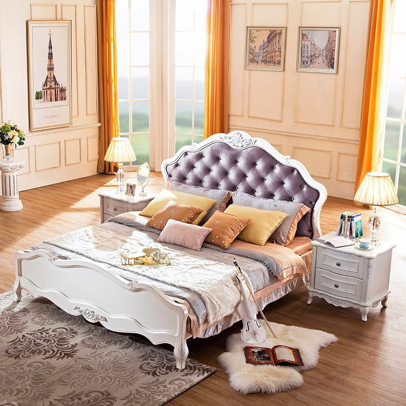sogal索菲亚卧室家具 定制衣柜 简欧风格 实木床床头柜组合 定制家具图片