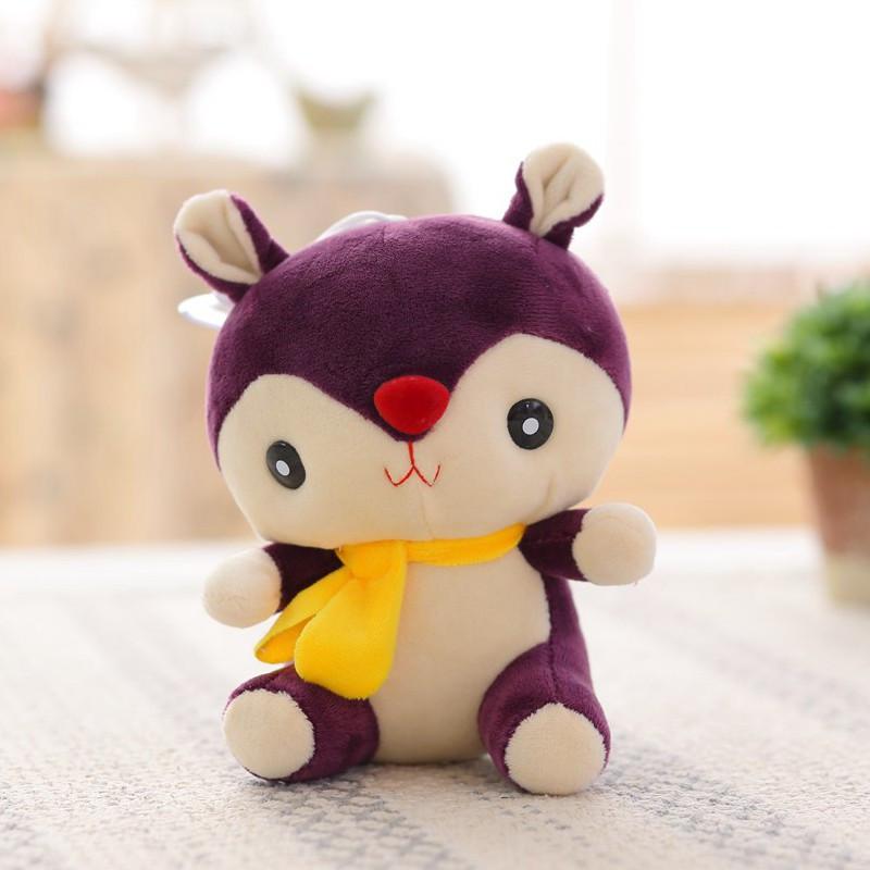 朵啦啦 彩色松鼠小公仔 毛绒玩具大号布娃娃玩偶 生日