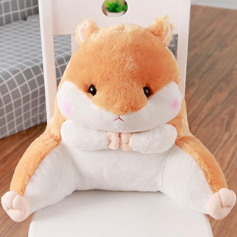朵啦啦 可爱仓鼠腰靠 毛绒玩具布娃娃玩偶公仔 生日礼物 女生 代写