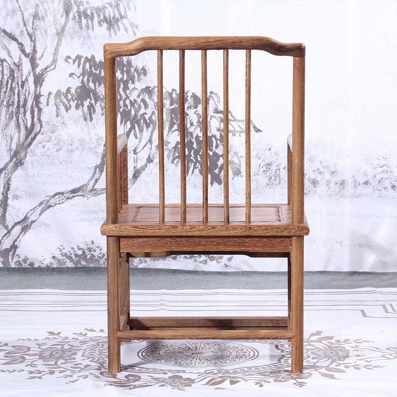 明清仿古中式围椅 榫卯实木休闲椅 新中式实木围栏椅jcm748