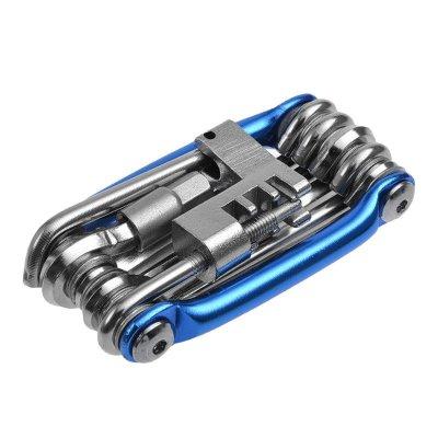 山地车自行车截链器组合工具维修补胎接链扳手多功能折叠工具 三色可选