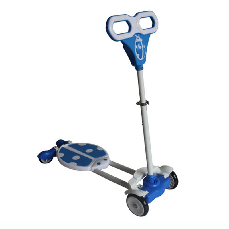 户外运动轮滑滑板六一儿童礼品带灯带音乐四轮蛙式甲壳虫滑板车