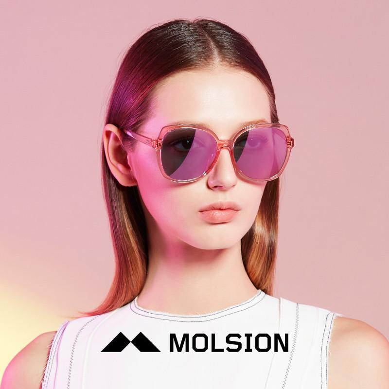 molsion陌森太阳镜女2018年春夏新款女士墨镜圆长脸驾驶偏光司机镜ms图片