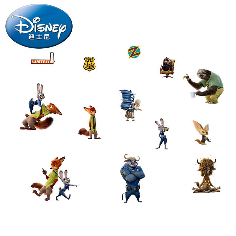 迪士尼正品授权 疯狂动物城 迷你型卡通人物海报贴纸