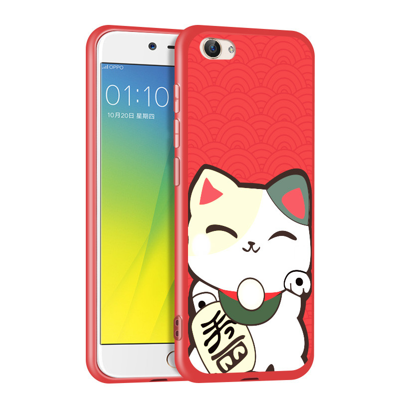 美枫玄诺 vivox7全包卡通可爱软手机壳 x7plus潮防摔韩版招财猫保护套
