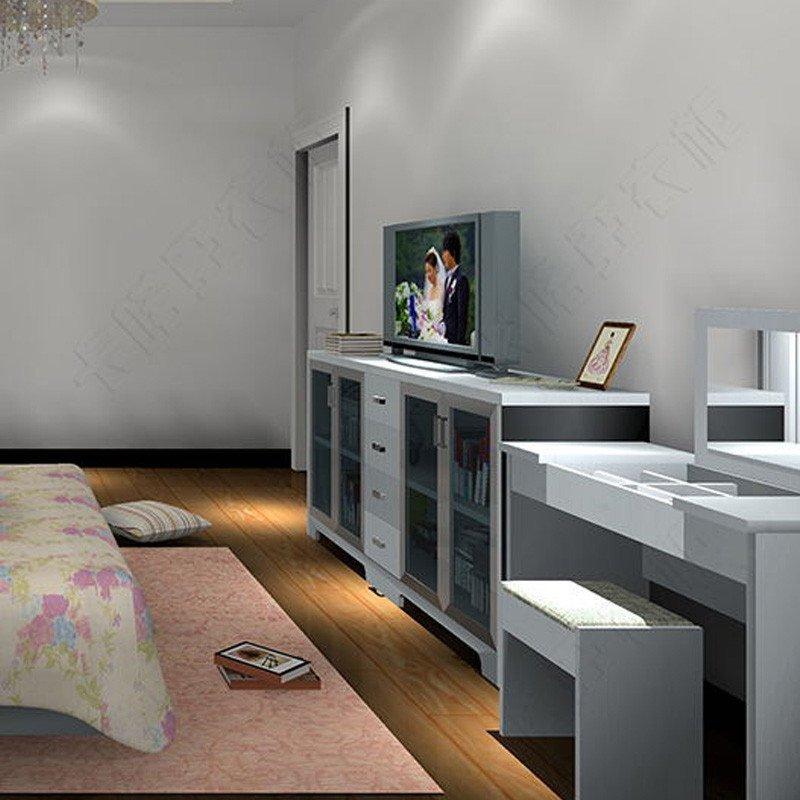 艾芭玛家居定制 全屋定制卧室家具走入式衣柜床组合梳妆台电视柜全屋