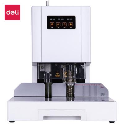 得力deli14601憑證裝訂機財務會計電動打孔機熱熔膠鉚管全自動裝訂機包郵