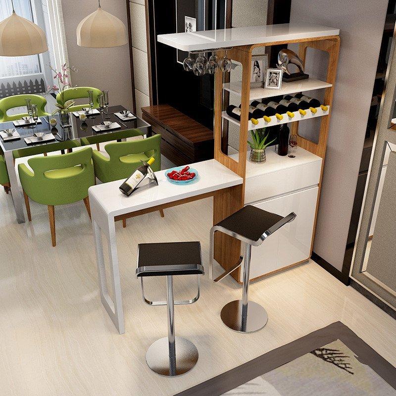 現代簡約烤漆吧臺 家用客廳隔斷酒柜 創意玄關間廳柜吧臺桌