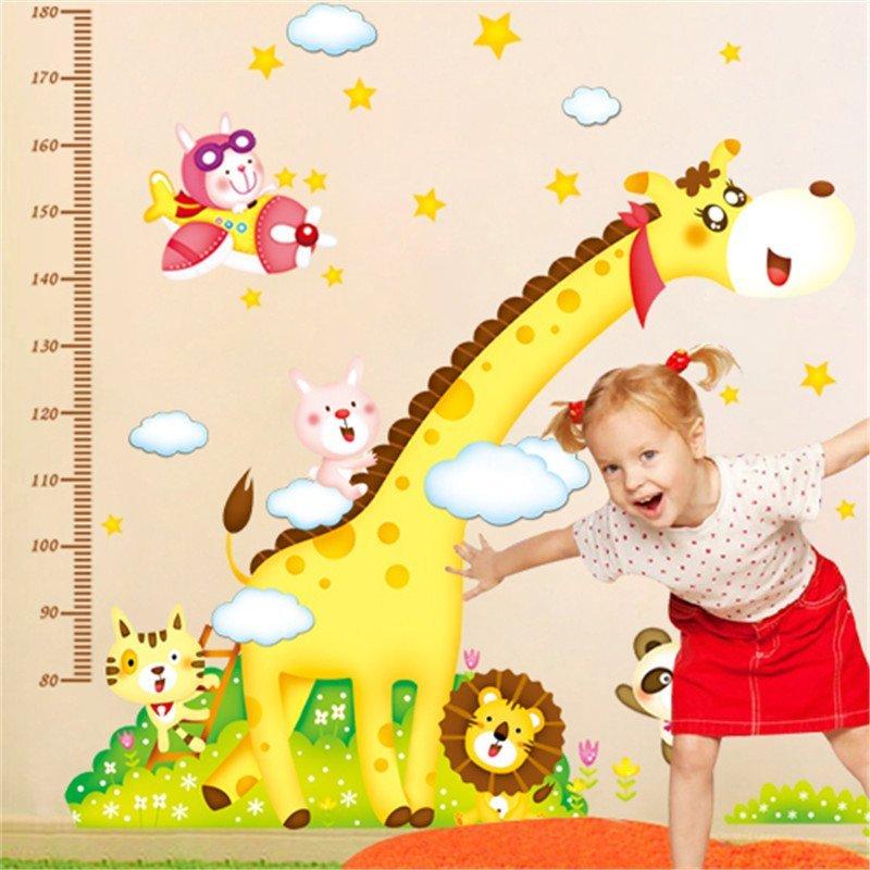 柠檬树 超大卧室儿童房量身高贴纸客厅可爱卡通宝宝身高尺墙贴画房间