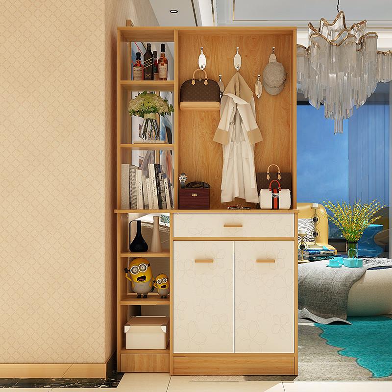 亿家达简约现代酒柜 门厅柜玄关柜客厅隔断柜大容量鞋柜屏风柜子图片