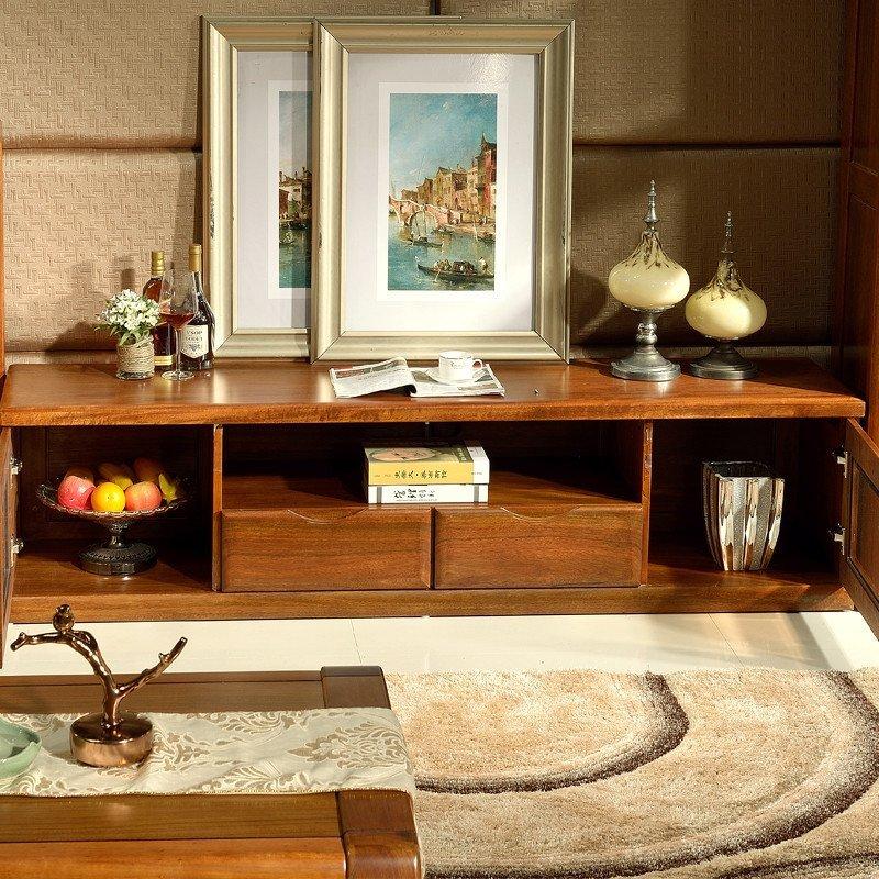 电视柜实木地柜胡桃木家具