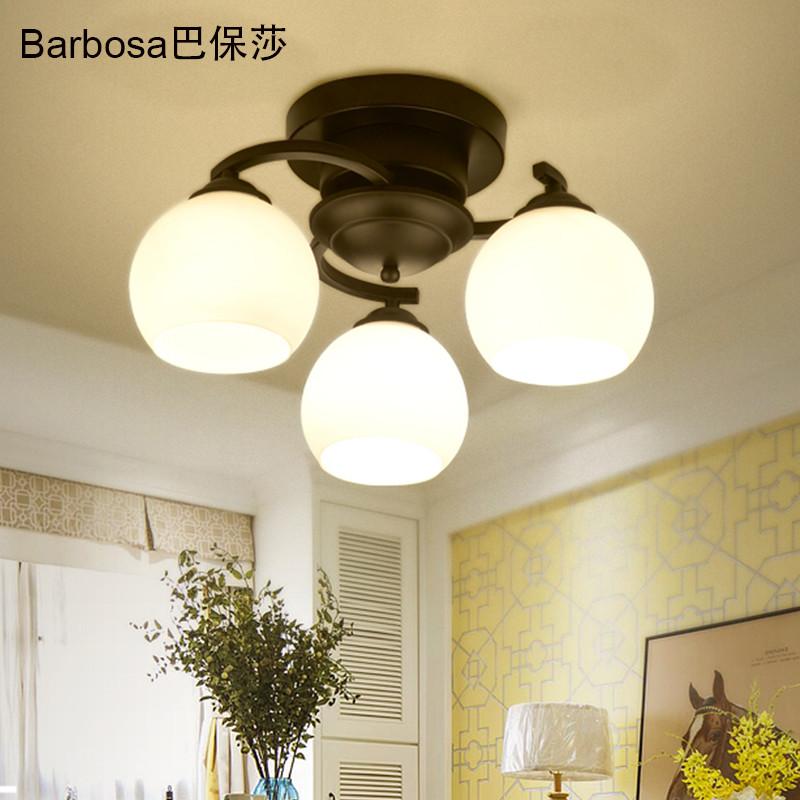 巴保莎圆形吸顶灯水晶客厅卧室灯现代简约灯具餐厅书房灯大气创意个性