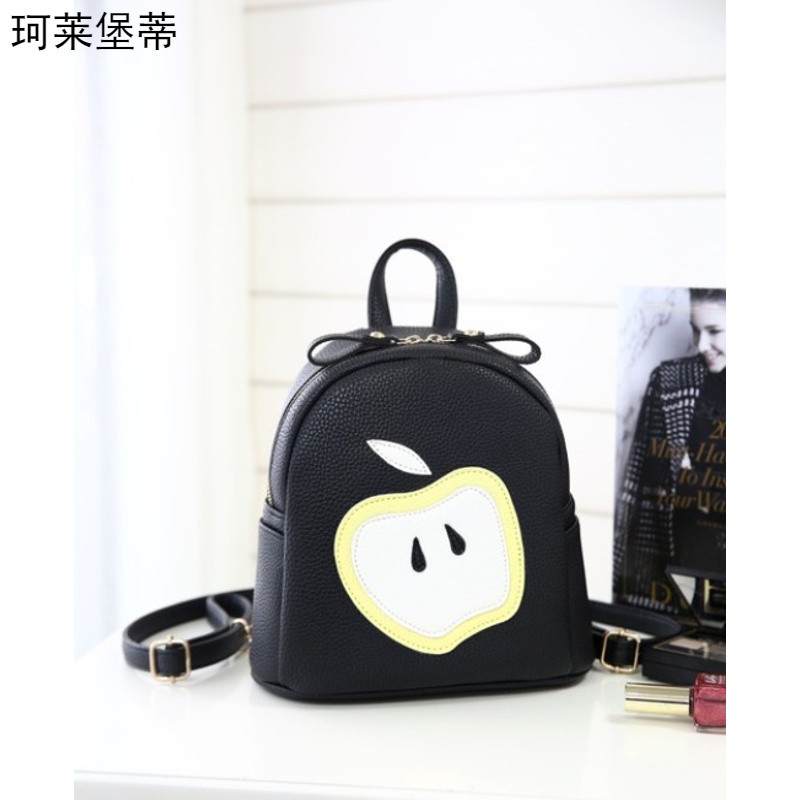 珂莱堡蒂新款儿童包包可爱苹果双肩包零食包学院风背包bqy-724