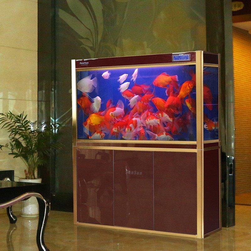 森森鱼缸水族箱玻璃鱼缸长方形中型鱼缸生态底过滤鱼缸免换水hlx图片