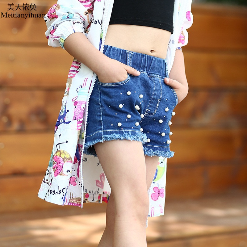 芭奴琳 可爱儿童童裤女童牛仔短裤夏季童装时尚童装小孩裤子fz3081209