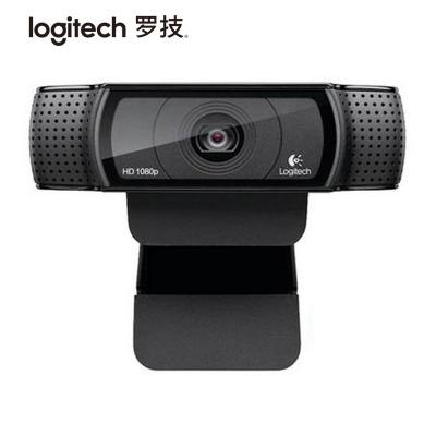 【罗技旗舰店】罗技(Logitech)Pro C920 高清网络摄像头 黑色