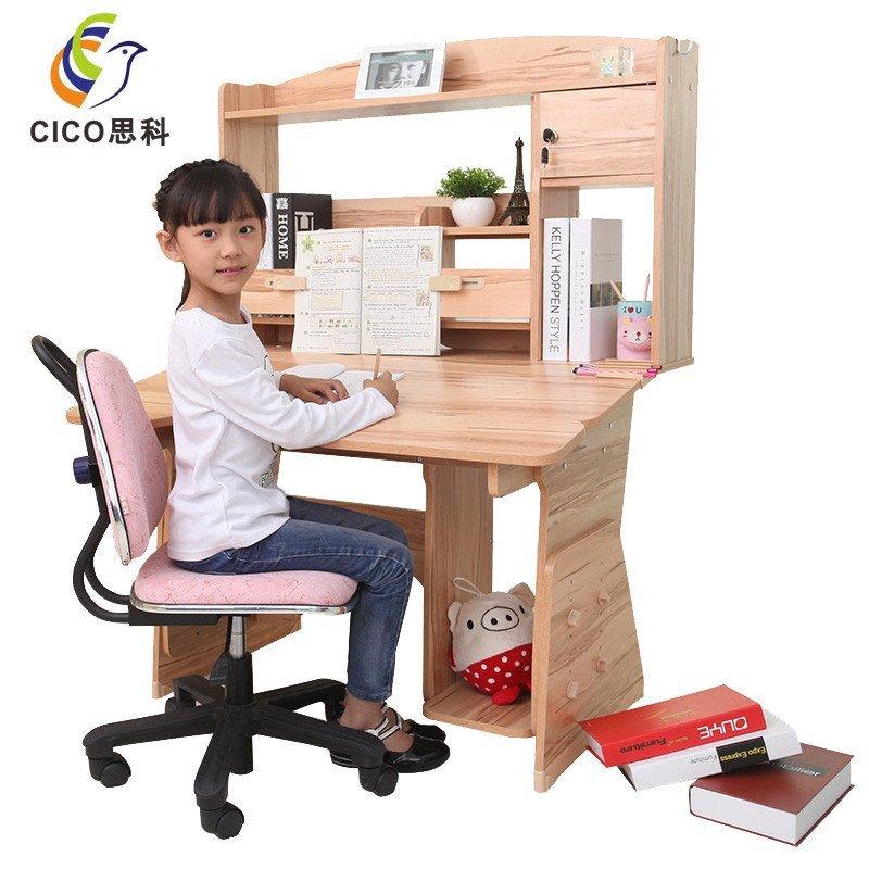 思科学习桌 儿童防近视学生书桌电脑桌升降写字桌椅套装 特价包邮包安