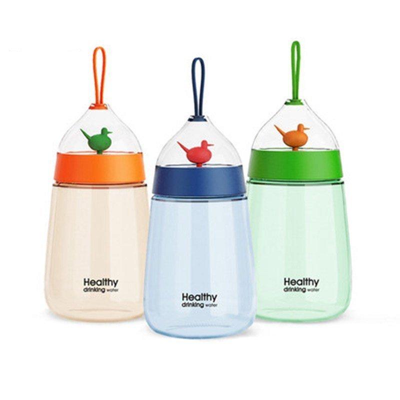 创意便携学生随手杯可爱塑料杯韩国韩版防漏带盖水瓶男女水壶杯子
