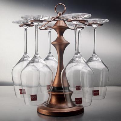 塔型古銅色紅酒杯架紅酒杯高腳杯掛杯架創意家居擺件懸掛杯架