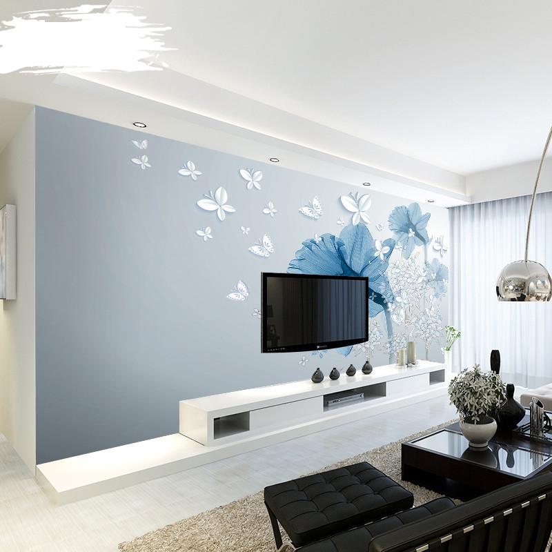 徐健 简欧电视背景墙壁纸现代简约客厅沙发壁画影视墙