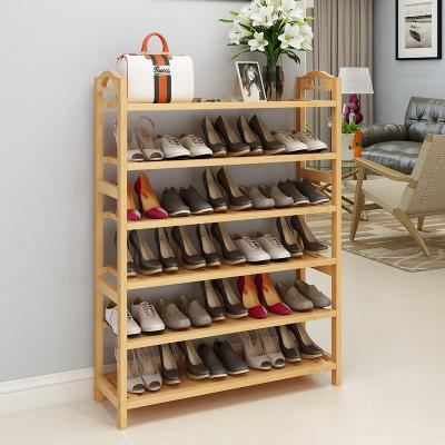 鞋架多層簡易家用經濟型門口鞋柜現代簡約收納楠竹鞋架子宿舍鞋架