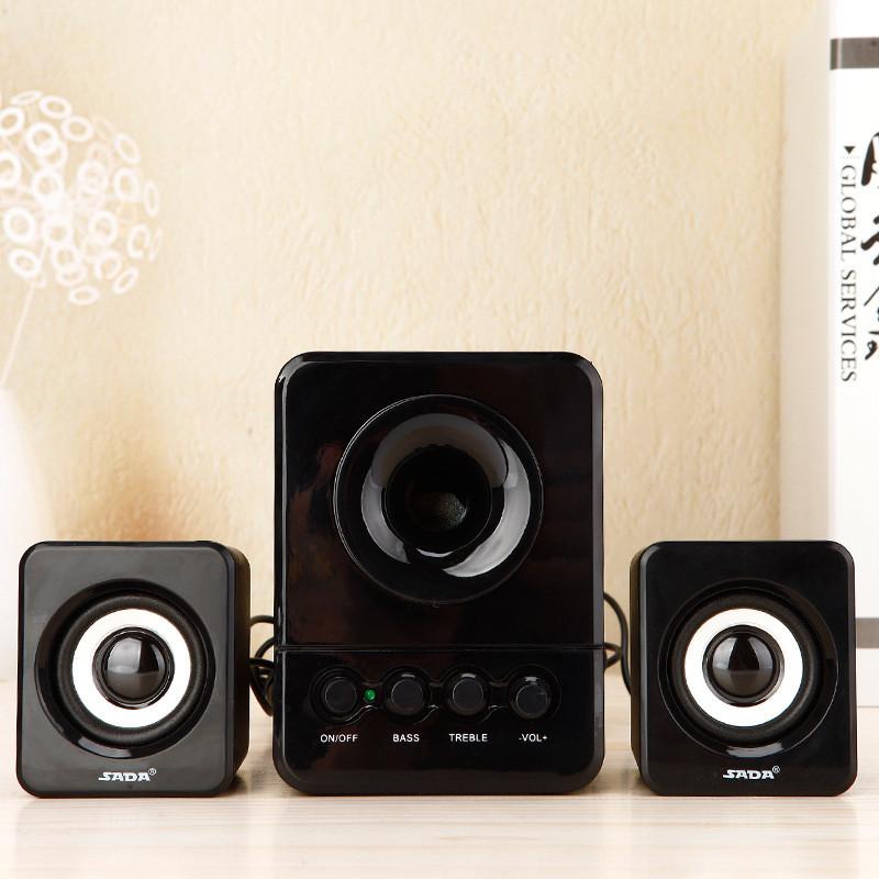 d-203电脑音箱手机笔记本小音响台式迷你家用有源低音炮影响(黑白色)