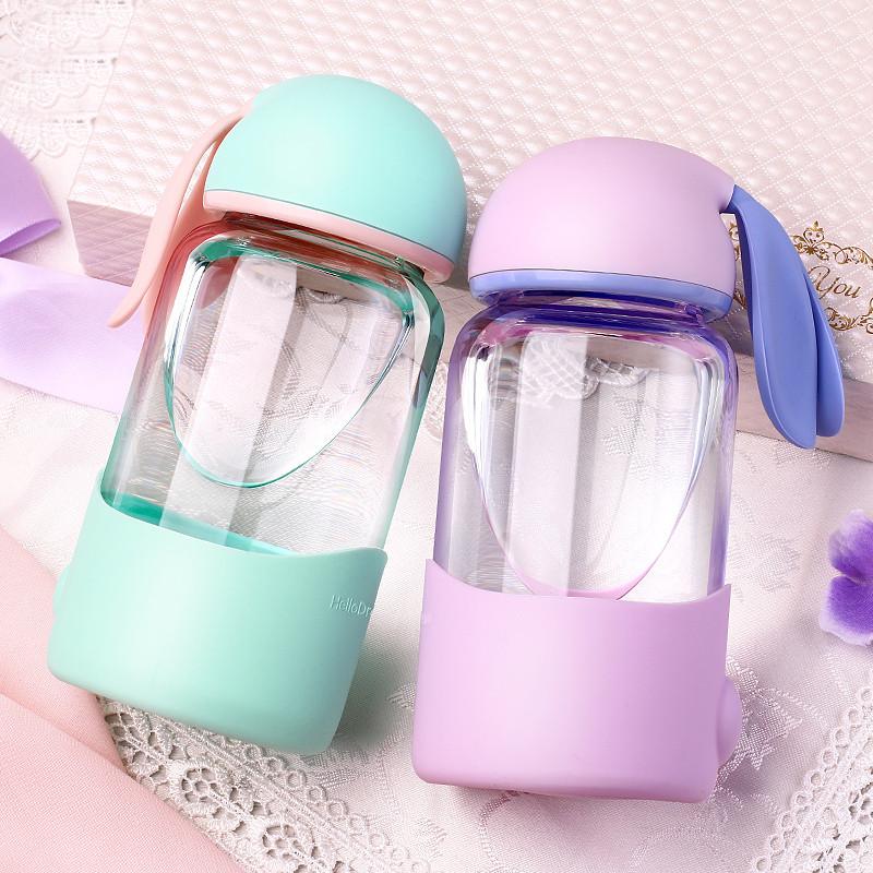 忆江南 水杯 玻璃杯 卡通可爱茶杯女学生时尚杯子
