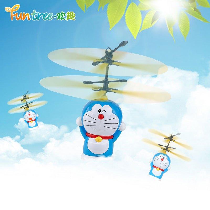4g遥控飞行音乐公仔 遥控飞机飞行器 4通道遥控直升机 小叮当机器猫竹