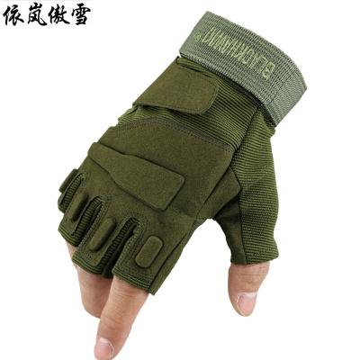依岚傲雪户外半指手套男运动健身手套登山防滑骑行手套训练运动战术手套
