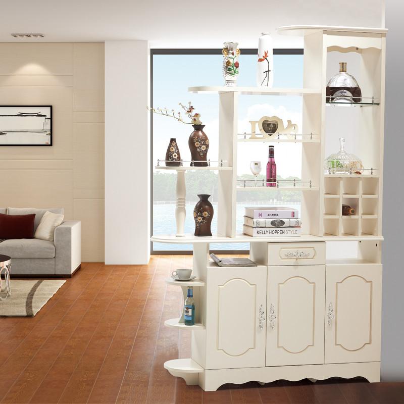 紫茉莉 欧式隔断玄关酒柜门厅间厅柜鞋柜雕花描银装饰