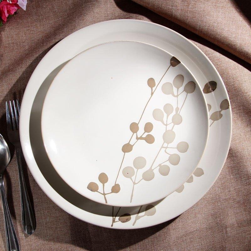 5英寸手绘陶瓷盘子 特色餐具 彩绘个性创意装饰挂平盘