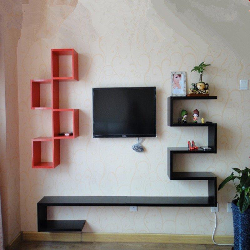 创意造型电视背景墙 时尚装饰架 客厅壁挂装饰架 机顶盒架