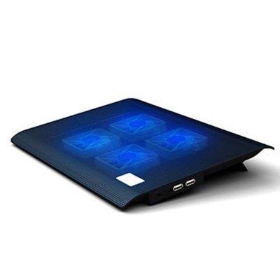 诺西L112 四风扇笔记本散热底座 14寸15.6寸散热器 可调风速 黑色记本散热底座