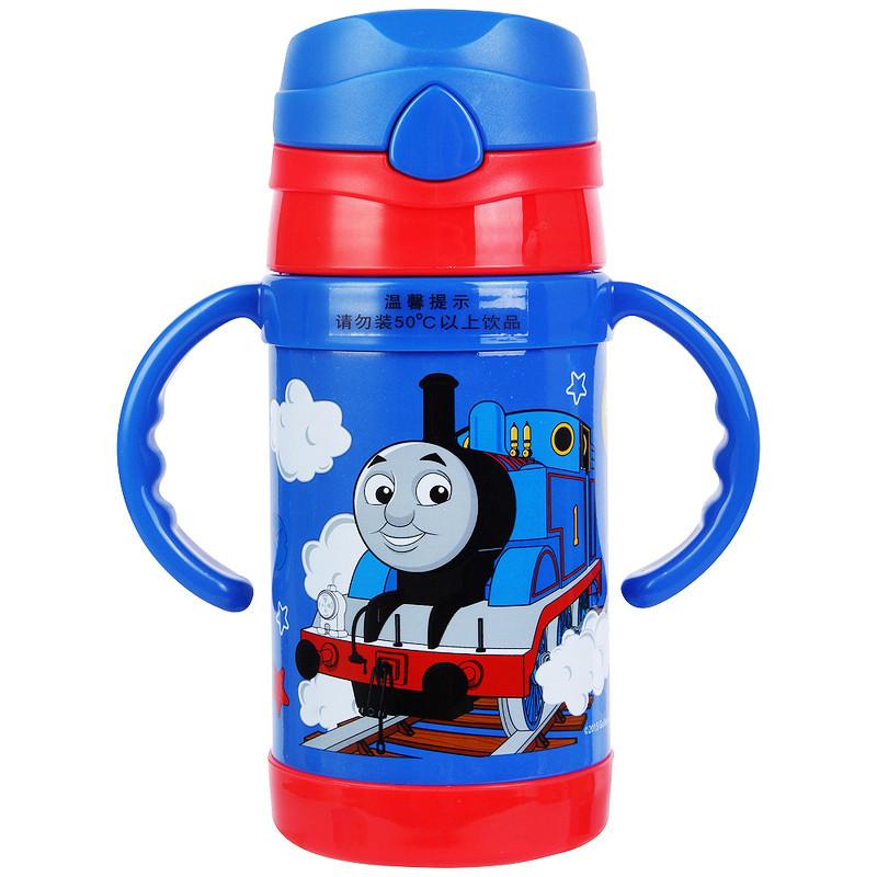 托马斯儿童水杯宝宝保温杯带吸管杯小孩喝水杯子幼儿水瓶婴儿水壶 260