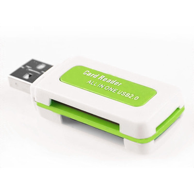 奥多金 四合一内存卡读卡器 适用于手机存储TF卡/MicroSD卡/MS卡/M2卡通用