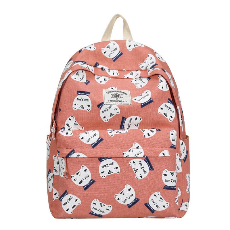 徐氏帆布双肩包女包韩版时尚包包高中初中学生书包可爱小清新旅行背包