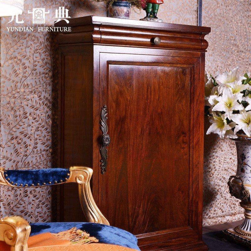 预售 允典红木家具 花梨木美式单门鞋柜 欧式简约 玄关 客厅柜