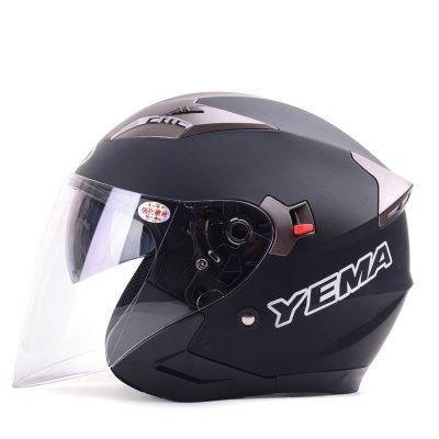 野馬YEMA627四季半覆式電動摩托車頭盔男電動車安全帽女士夏季防曬雙鏡片半盔