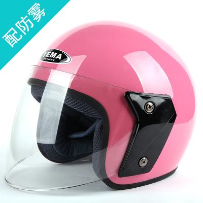 野马YEMA607冬季电动车头盔女 四季通用半覆式摩托车安全帽男防雾半盔