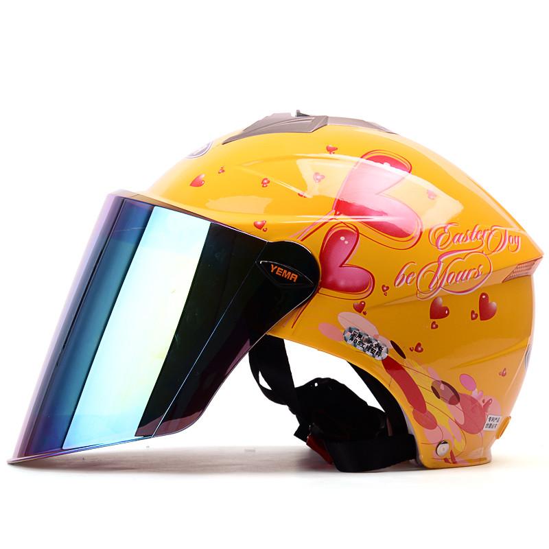 野马摩托车头盔女可爱夏季防晒防紫外线轻便式夏盔电动车安全帽327