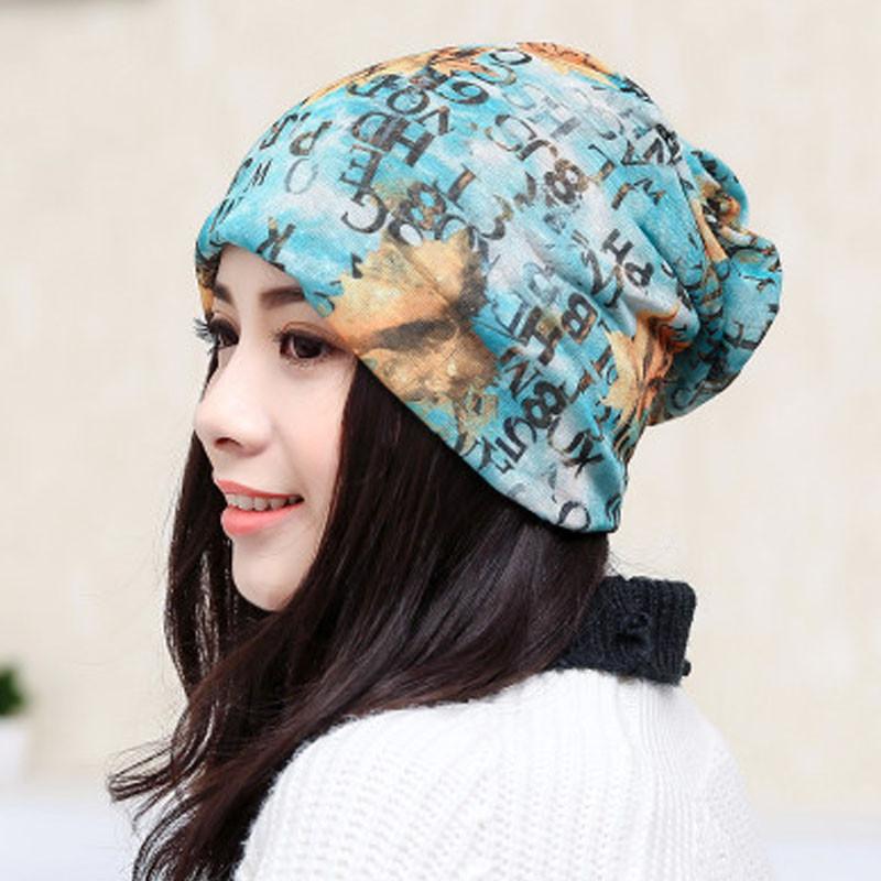 2017年新款印花帽子女春夏纱巾帽透气化疗帽薄款光头睡帽可爱月子帽头
