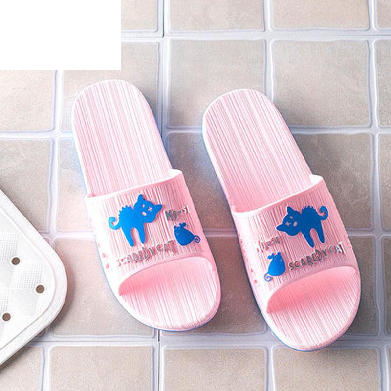 2017年夏季浴室拖鞋女居家用情侣室内软底防滑可爱洗澡漏水塑料凉拖鞋