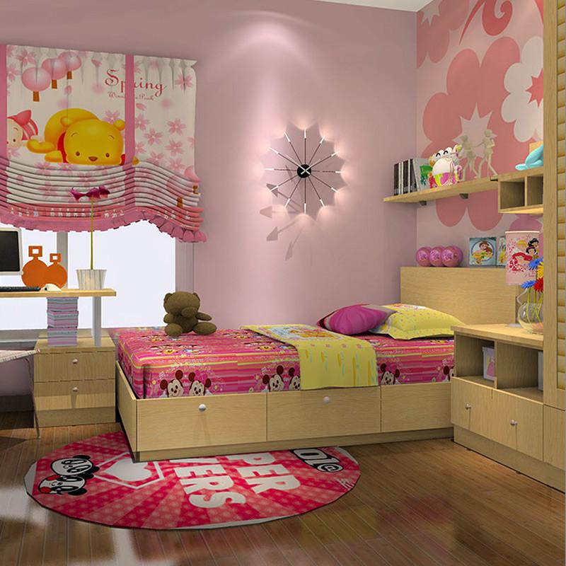 科凡简约木质组装平开门儿童衣柜 现代可爱卧室成套家具定制 定制可爱