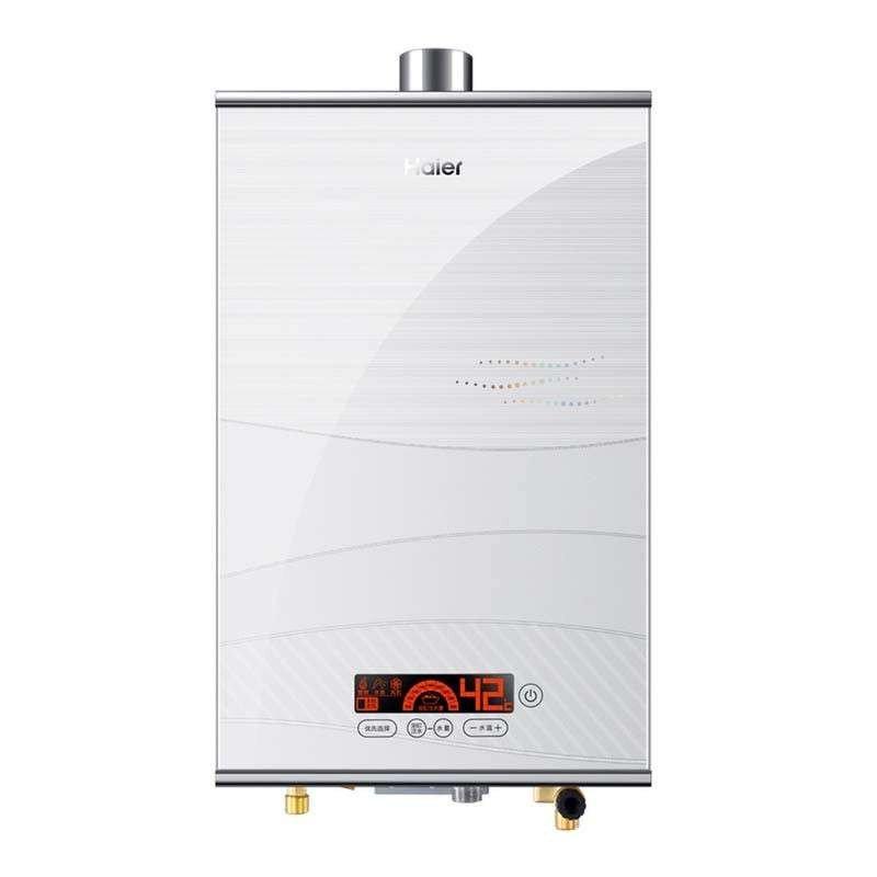 海尔燃气热水器 jsq25-13wt3(12t)天然气舒享恒温,时尚彩晶面板