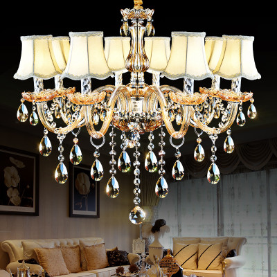 led吊灯客厅灯欧式蜡烛水晶灯卧室灯具创意个性简约
