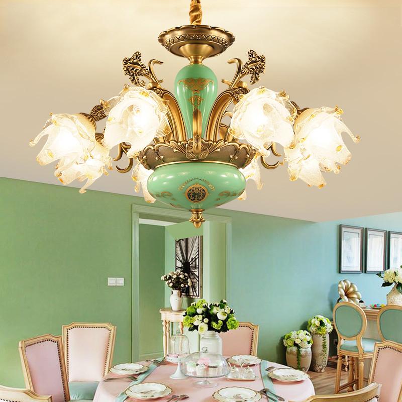 欧式吊灯浪漫水晶灯法式餐厅客厅灯美式田园简约大气创意卧室灯具图片