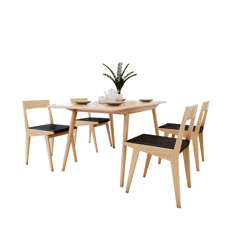 阁贝尔北欧餐桌宜家简约现代多功能伸缩小户型水曲柳图片