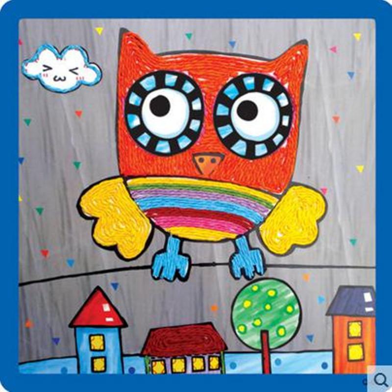 纸绳画 儿童手工制作材料 幼儿园粘贴画 绳子艺术玩具图片